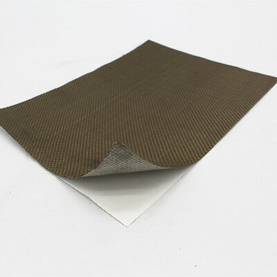 Reinforced Adhesive Backed Lava Heat Shield Resistant High 1200 degree 24''X12''