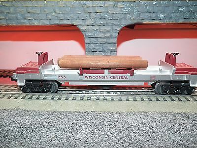 Lionel 6-26885 Wisconsin Log Dump Car With Logs & Tray Built 1-05