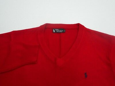 Vintage Polo Ralph Lauren Men's 100% Cashmere V Neck Sweater Size Large L