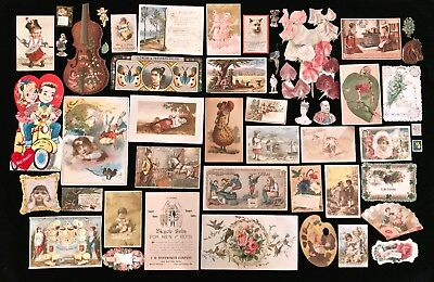 49 Misc. Ephemera & Victorian Trade Cards - Lot