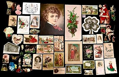 Mixed Lot of 54 Misc. Ephemera & Victorian Trade Cards