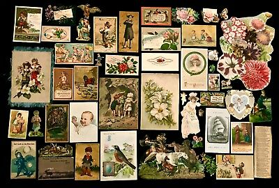 Lot of 50 Misc. Ephemera & Victorian Trade Cards