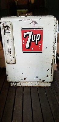 Old Small 7 Up Chest Type Cooler