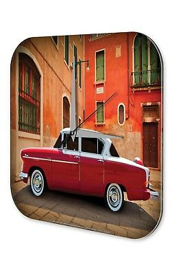 Garage Metal Wall Clock  red car white car roof Mediterranean space Gas Stations