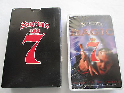 SEAGRAM'S 7 PLAYING CARDS SEALED DECK MAGIC 7-UP TRIPLE SEC seven OPEN BOX