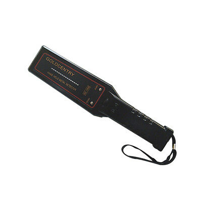 Portable Security Hand Held Metal Detector Wand Scanner Audio Alert and LED