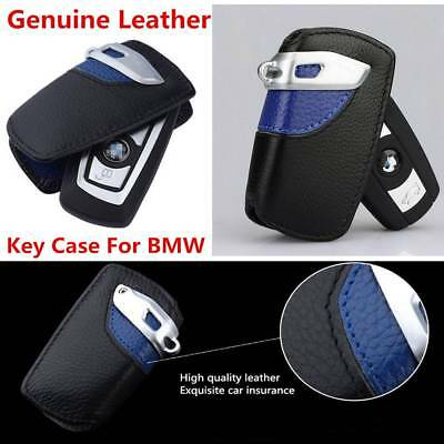 NEW Leather Genuine Key Fob Holder Bag Cover Case Sport line For BMW 2 3 5Series