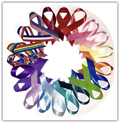 USA Made Awareness Ribbons w/ Pins (Many Colors Available)
