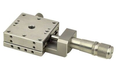 OptoSigma Stainless Steel Stage 25x25mm Center Drive Metric T: TSDH-251C