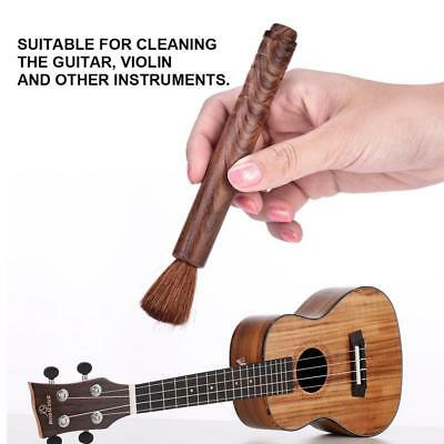 Violin Cello Guitar Ukulele Cleaning Brush Care Tool w/ Ebony / Rosewood Handle