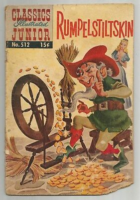 Classics Illustrated Junior #512 Rumpelstiltskin September 1954