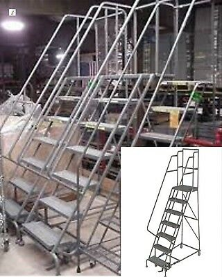 7 Step Steel Roll around staircase / rolling Safety Ladder