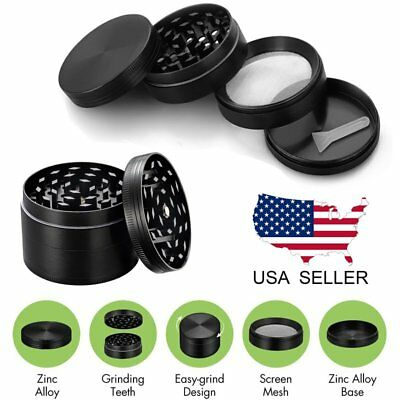 4 Piece Herbal Alloy Smoke Metal Chromium Crusher Tobacco Herb Spice Grinder US