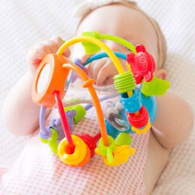 Playgro Play and Learn Ball Rattle Teething Toy Baby Beads Chaser Mirror 6m+ NEW