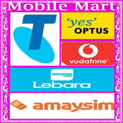 Telstra◉Optus◉Boost◉Vodafone◉$2 $10 $20 $30 $40 $50◉3G 4G◉Pre-Paid SIM Card Kit◉