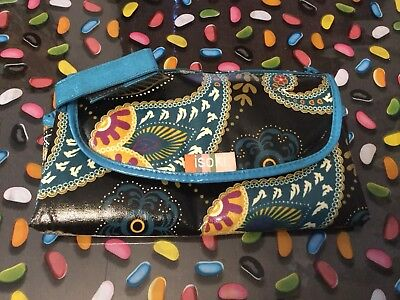 Isoki Floral Nappy Clutch And Change Mat EUC