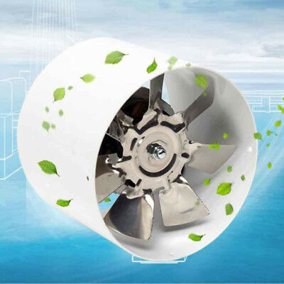 4INCH Pro Inline Duct Fan Booster Exhaust Blower Air Cooling Vent Metal Blade N1