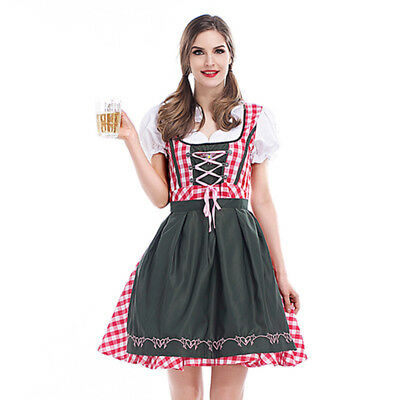 Cheers Traditional German Girls Oktoberfest Dirndl Fancy Servants Costume Dress