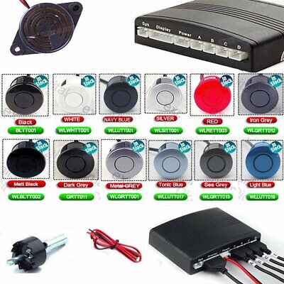 Reverse Rear Parking Sensor Kit with Audio Buzzer Alarm 4 Reversing Sensors