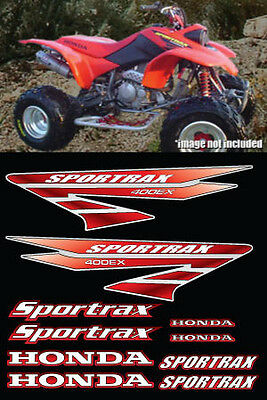 400ex Decals Stickers 10pc kit TRX Sportrax Gen 3 Full Color Red Pick Any Color