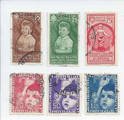 Italy - 1937 Child Welfare - Six different values - Used