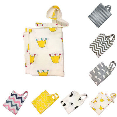 Cotton Blended Infant Baby Apron Mother Outdoor Breast Feeding Nursing Cover New