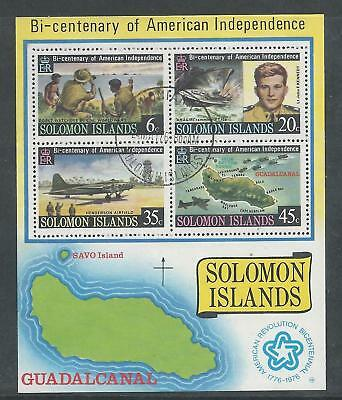 Solomon Islands - 1976 Bi-Centenary of American Independence - Miniature Sheet