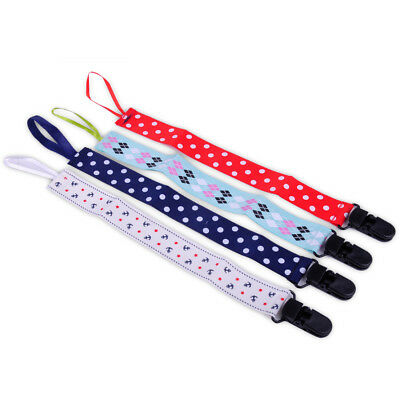 4x Baby Girl Newborn Pacifier Holder Soother Nipple Leash Strap Chain Clip Gift