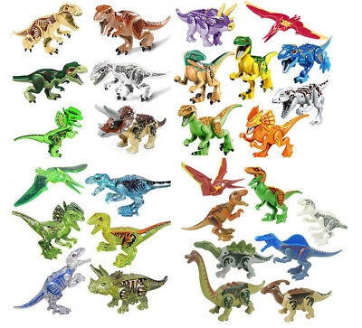 "The Jurassic World XXL Large Size Dinosaur 7x11"" Figure Blocks Fit LEGO Toys Set"
