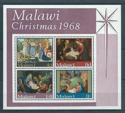 Malawi SG MS309 1968 Christmas Mini Sheet Unhinged Mint