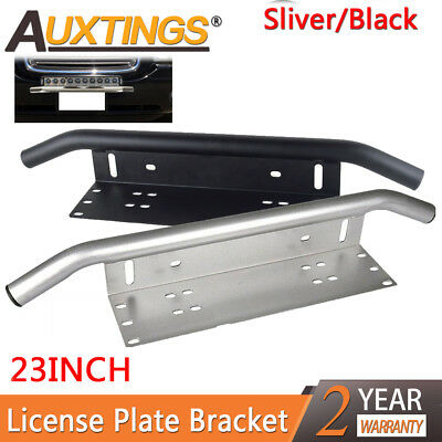 23inch Bull Bar Front Bumper License Plate Mount Bracket LED Light Holder 2color