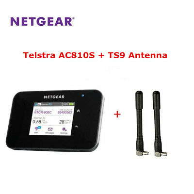 UNLOCKED NETGEAR AIRCARD AC810S WiFi Router 4G LTE Cat11 600Mbp TS9 Antenna  Free