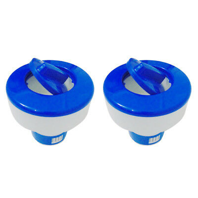 """2x 8"""" Chlorine Bromine Floating Dispenser for Swimming Pools Hot Tub Tablet"""