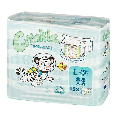 Adult Nappy / Diaper Crinklz Aquanaut - Large - Pack of 15