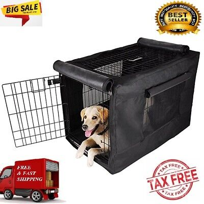 SALE Extra Large Dog Crate Kennel  Pet Wire Cage Huge Cover Folding Giant Breed
