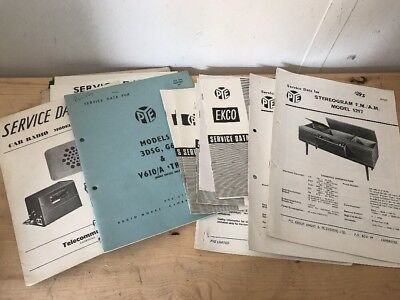 Pye Radio , Tv , Radiogram Service Data - Many Models Avalible -  Pye 3