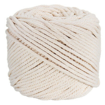 4mm Macrame Rope Natural Beige Cotton Twisted Cord Artisan Hand Craft 100M BO