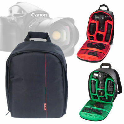 Waterproof DSLR SLR Camera Backpack Rucksack Bag Case For Nikon Sony Canon