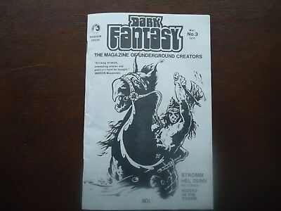 DARK FANTASY #3 FANZINE (Shadow Press 1974) RARE Howard DAY and Gene Day