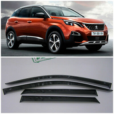 For Peugeot 2008 5d 2013-2019 Side Window Visors Sun Rain Guard Vent Deflectors