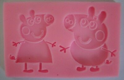 PEPPA PIG GEORGE Silicone Mould Mold Cake sugarcraft biscuit Baking