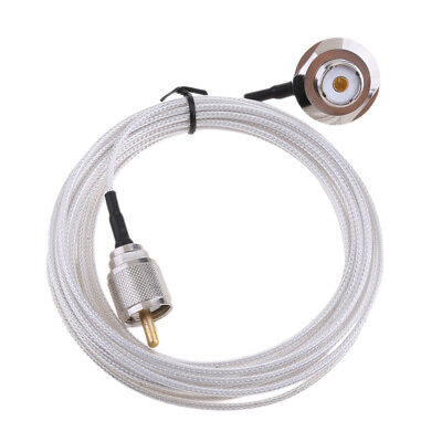 UHF to SO239 Bulkhead for Car Radio Mobile Antenna Mount RG58 Cable,5M
