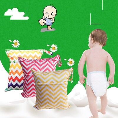 Wet Dry Bag Baby Cloth Diaper Nappy Bag Reusable With One/Two Zipper Pockets