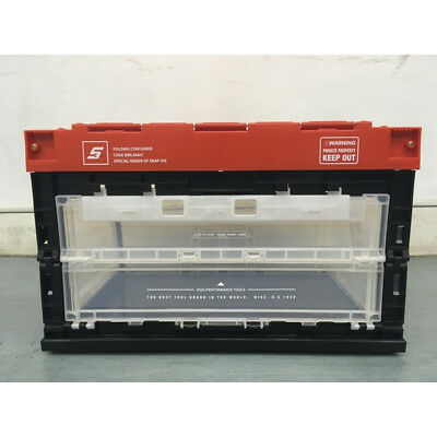 Snap-on Folding type Container Box Clear