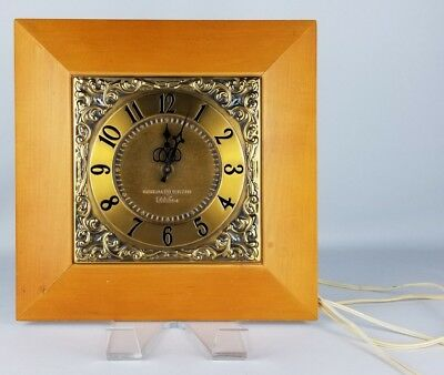 Vintage 1950's GE General Electric Telechron 2S57 Electric Wall Clock