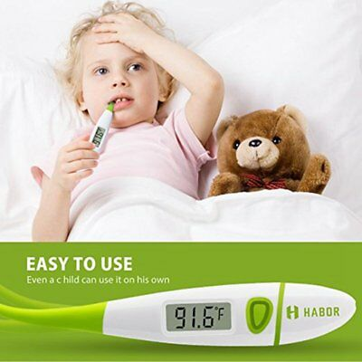 Habor Personal LCD Medical Body Thermometer Oral Rectal Digital For Adult Baby