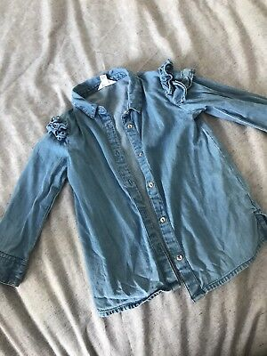 River Island Girls Denim Shirt