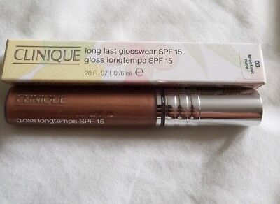 New Clinique Long Last Glosswear SPF15 Lipgloss in Knockout Nude