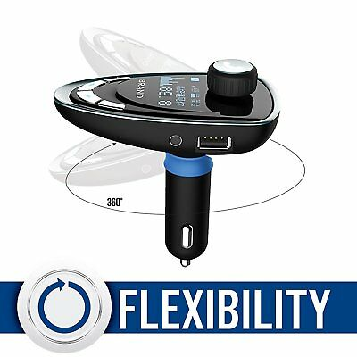 Bluetooth FM Transmitter Radio Handsfree CAR KIT TF/AUX/MP3 with USB Charger BK
