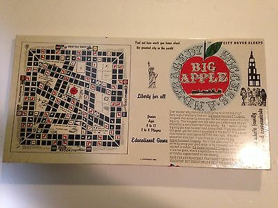 New York City BIG APPLE  Success & Tragedy Educational Vintage Board Game Sealed